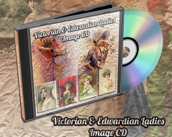 Victorian and Edwardian Ladies / Woman Digital Images On CD