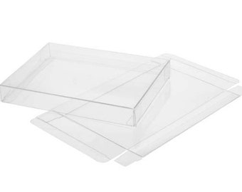 5 Clear Soft Fold Boxes, Each Holds Up To 75 8.5 x 11 Papers, Size 8 5/8 x 5/8 x 11 1/8