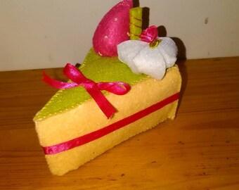 Handmade Pin Cushion Cake Slice