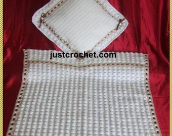 Pram Cover and Pillow Case Baby Crochet Pattern (DOWNLOAD) 62