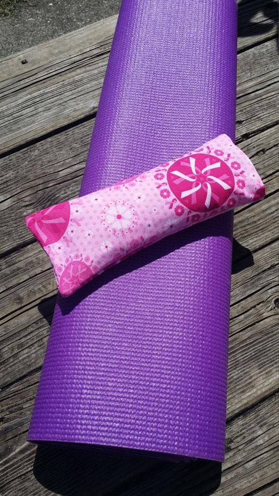 Yoga Eye Pillow / Relaxing Eye Pillow with Breast Cancer Awareness cover /  yoga accessories / Meditation Eye Pillow/ Yoga Gift/ Savasana