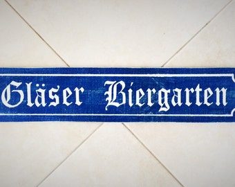 Custom Last Name Biergarten Sign 28x6 (Choose Color) Custom Rustic Shabby Chic Wood Sign
