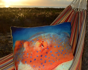 Sting Ray, Hand made cushion, Great Barrier Reef