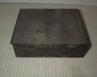 Vintage Metal Tin with Hand Tools