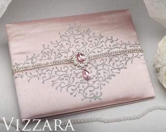 Wedding guest book Pink weddings Guest books weddings Pink and silver wedding Wedding guest book sale Blush pink wedding