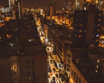 New York City Street // NYC Manhattan Photography // Mounted Photo Print