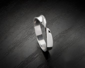 Mobius Ring, Sterling Silver Ring, 9k Mobius Ring, Solid Gold Mobius