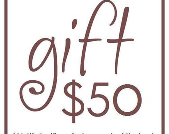 50.00 Gift Certificate for Pursesonals of Pittsburgh