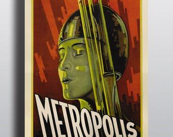 Metropolis, Sci-Fi - Vintage Movie Poster Print