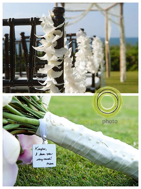 Wedding Bouquet Charm - Custom Memorial Photo Pendant - Bouquet Jewelry - Large - BC1
