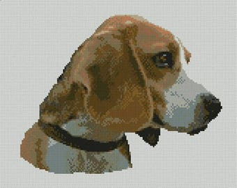 Beagle Dog Counted Cross Stitch Kit