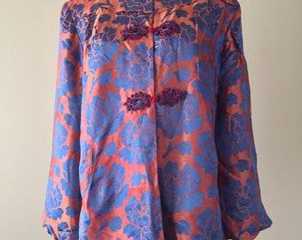 Vintage 40's Jacket, 1940's Silk Cheongsam Jacket, Ying Thai Co., Hong Kong