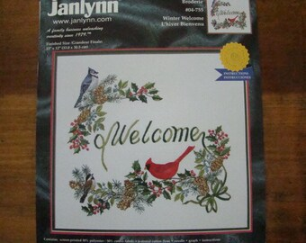 Janlynn Winter Welcom Blue Jay Sparrow Cardinal KIT