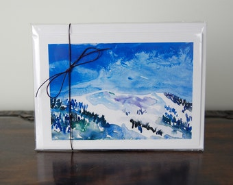 Rocky Mountains art, Blank Cards, Greeting Cards, All Occasion Notecards