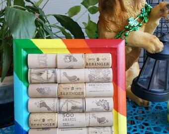 Rainbow Corkboard