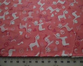 Snuggle Flannel Unicorns Flannel Fabric