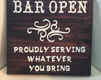 Bar Open Wall Sign