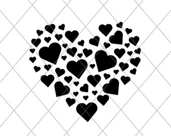INSTANT SVG/DXF heart of hearts, svg, cut file, svg, vector, valentines tshirt, valentines graphic, valentines wall art vinyl heart decor