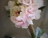 Set of 4 blush pink peony...