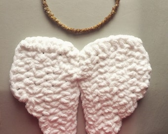 Crochet angel wings & halo