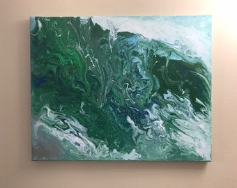 The Wave - Acrylic Pour Painting