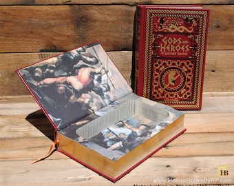 Hollow Book Safe - Gods and Heros of Ancient Greece - Leather Bound