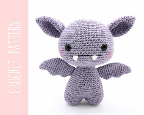 Easy Amigurumi Pdf : Bat amigurumi crochet pattern crochet cute bat pattern