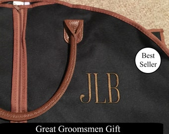 Personalized Men's Garment Bag - Monogrammed Hanging Bag - Personalized Garment Bag - Groomsmen Gift - Suit Bag - Men's Travel Suit Bag