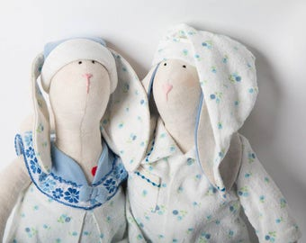 Tilda bunny / Rabbit toy / Handmade doll / Fabric doll / Handmade Home Decoration Decor Art Doll
