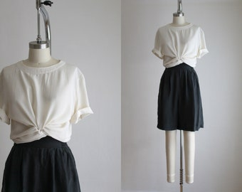IMPERFECT cream silk blouse