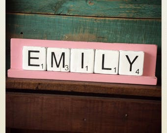 Scrabble Name Sign