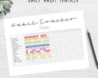 Daily Habit Tracker Printable