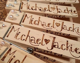 Large personalised wooden peg