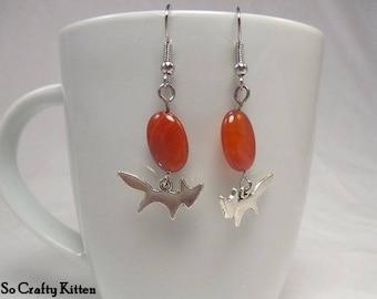 Foxy Orange Drop Earrings, Fun and Simple