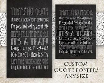 CUSTOM Movie Quotes Poster- Design Your Own- Custom Subway Art- Favorite Actor Quotes- Personalized Print- Designer Art- Custom Gift Idea