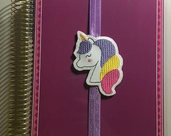 Unicorn Head Planner Band/Bookmark