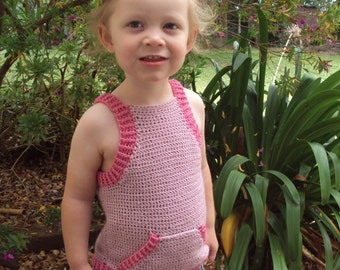 Download Now - CROCHET PATTERN Triangle Pocket Tank Top - Baby and Toddler - Pattern PDF