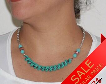 Spiral Necklace, Beaded Necklace, Beaded Necklace Handmade, Seed Bead Necklace, Handmade Necklace, Fashion Necklace, Artisan Necklace [p][s]