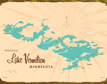 Lake vermilion map Etsy