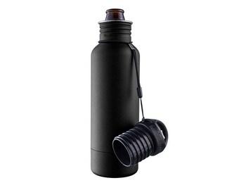 REAL Laser Engraved Black Bottle Keeper, The Standard 2.0- NEW & IMPROVED!