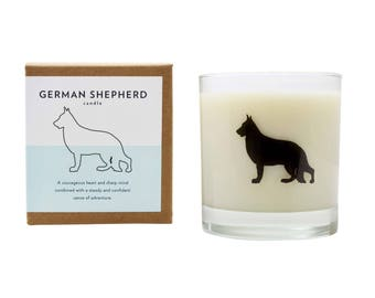 German Shepherd Soy Candle Soy Candle Hostess Gift Dog Candle German Shepherd Rescue Gift Soy Candle The Original Scripted Fragrance Candle
