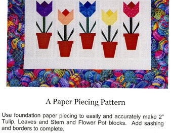 Tiny Tulips Quilt: A Paper Piecing Pattern