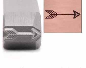 Arrow Metal Stamp, Large Classic 11.5mm x 3mm - Metal Stamping / Punch Tools for Metal Stamped DIY Jewelry, Jewelry Making Tools (DS467)