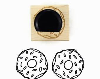 Rubber Stamp Sprinkles Donut Lg | Hand Drawn Stamp by Creatiate