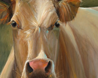 Cow Painting - Libby - Paper Print of an original painting