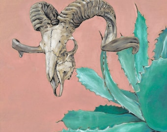 Ram Skull and Agave