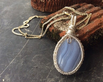 Blue Lace Agate N silver