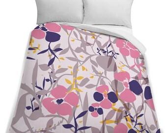 Pastel Flower Queen Size Duvet Cover