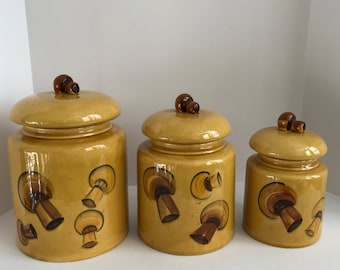 Vintage 1969 Los Angeles Pottery Jars