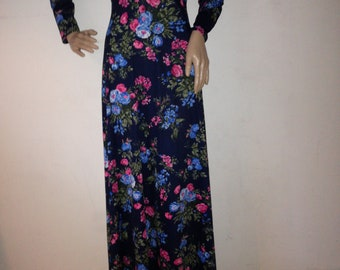 Vintage maxi dress flowerpower long dress 70s 90s